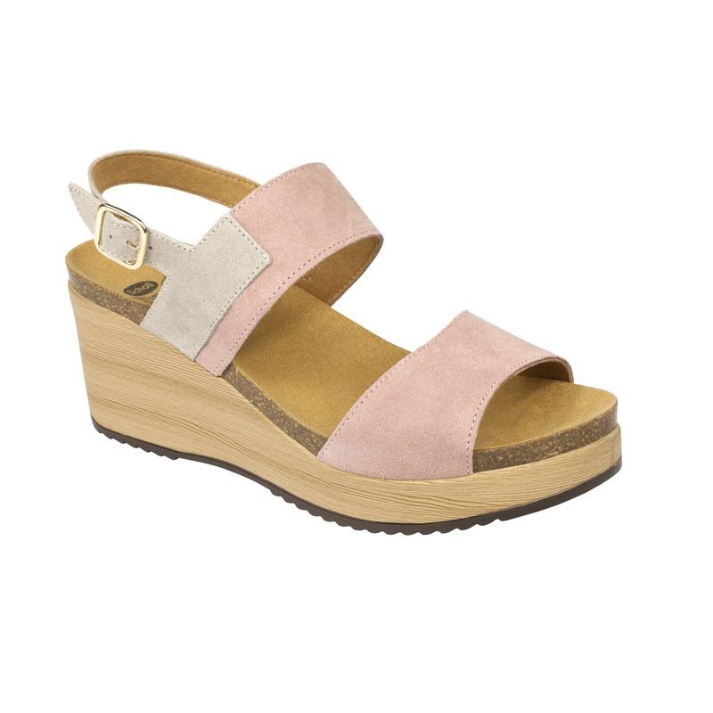 Scholl ELARA svetlo ružové zdravotné sandále