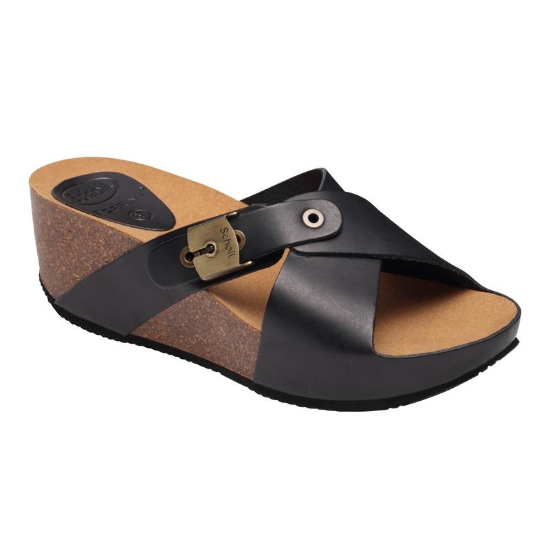Scholl ELON 2.0 - čierne zdravotné papuče