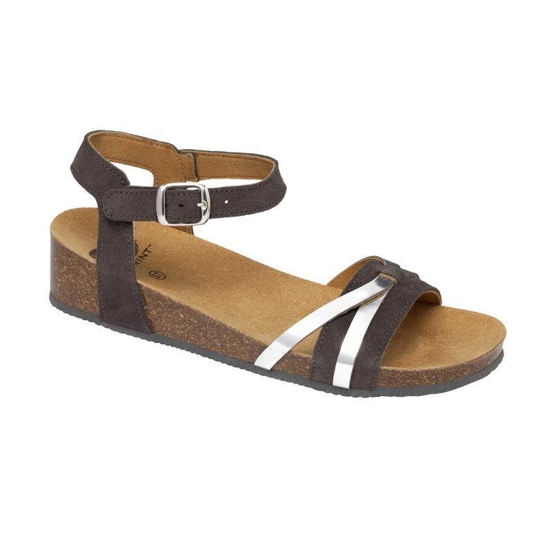 Scholl KELLY tmavo šedé zdravotné sandále