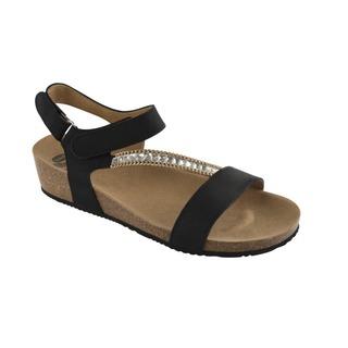 SBRILLI čierne sandále