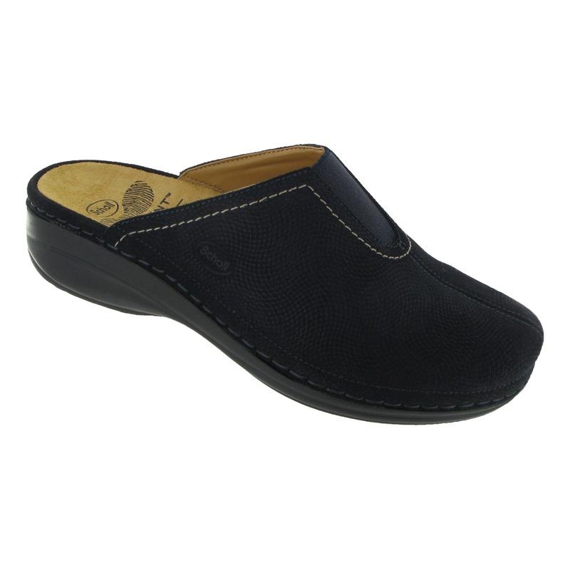 Scholl DUCHESS domáci tmavo modré papuče VÝPREDAJ