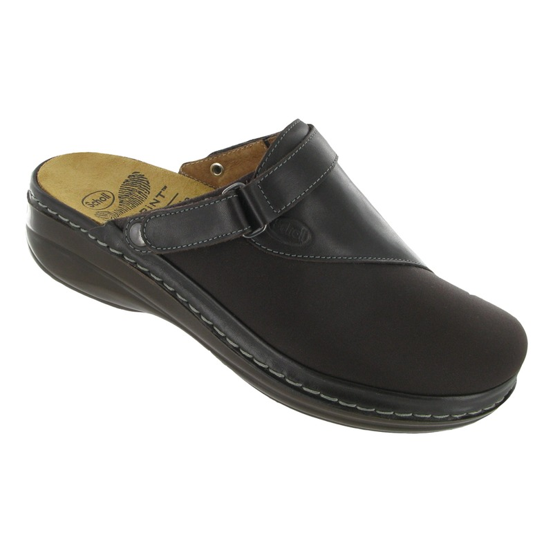 Scholl Maul tmavo hnedá domáca obuv VÝPREDAJ