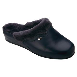 WARMLINE tmavo modrá domáca obuv