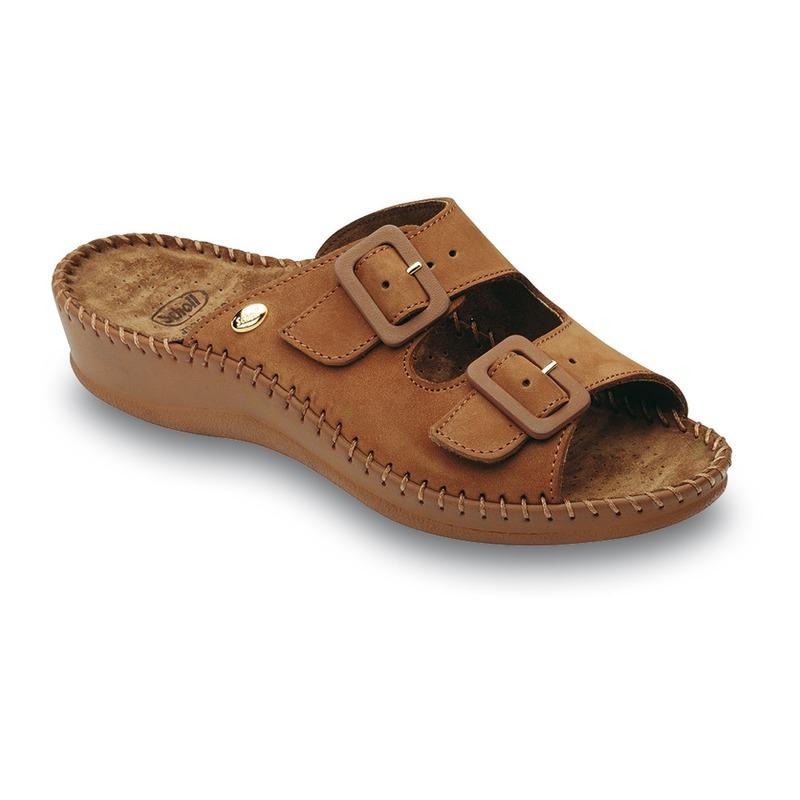 Scholl WEEKEND - svetlo hnedé zdravotné papuče