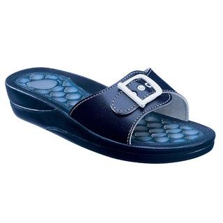 FITNESS PEBBLE - modré zdravotné papuče